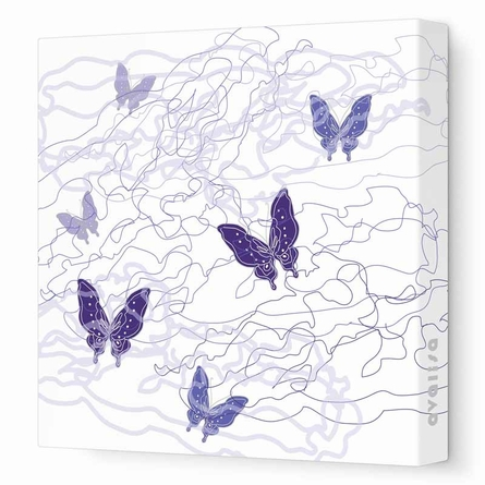 Butterfly Trails Canvas Wall Art