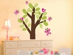 Butterfly Tree Fabric Wall Decal