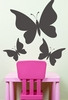Butterfly Trio Chalkboard Wall Decal - Set of 3