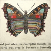 Butterfly Vintage Canvas Print on Wood