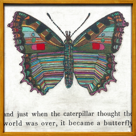 Butterfly Vintage Framed Little Art Print