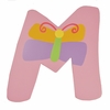 Butterfly Wall Letter - M