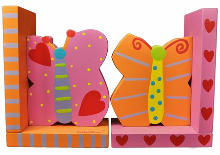 Butterfly Wooden Bookends