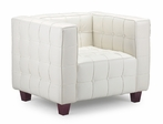 Button Armchair in White
