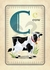 C is for Cow Canvas Wall Art