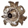 Cabbage Patch Crystal Knob with Gold Base