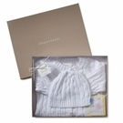 Cable Knit Sweater & Hat Boxed Set in White