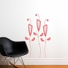 Cactus Flowers in Red Wall Decal