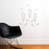 Cactus Flowers in Warm Grey Wall Decal