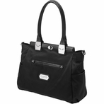 On Sale Cafe Carryall Diaper Bag- Black Chai Tea Cake