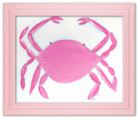 Caitlin the Crab Framed Canvas Reproduction