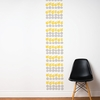 Cal in Light Yellow Wall Decal