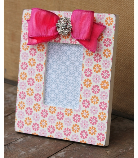 Calico Flowers Picture Frame