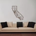 California Map Wooden Wall Art