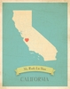 California My Roots State Map Art Print - Blue