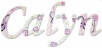 Calyn Sugar Plum Hand Painted Wall Letters