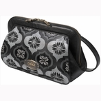 On Sale Cameo Clutch Diaper Bag - Blackout Fondant Cake Leather