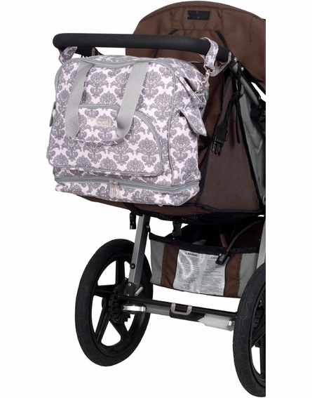 Camille Getaway Diaper Bag in Pink Filigree