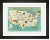 Camp USA Framed Art Print