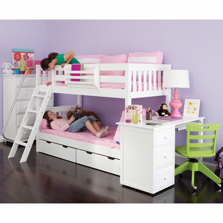 Hot Hot Slatted Low Bunk Bed