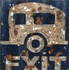 Camper Exit Canvas Wall Art