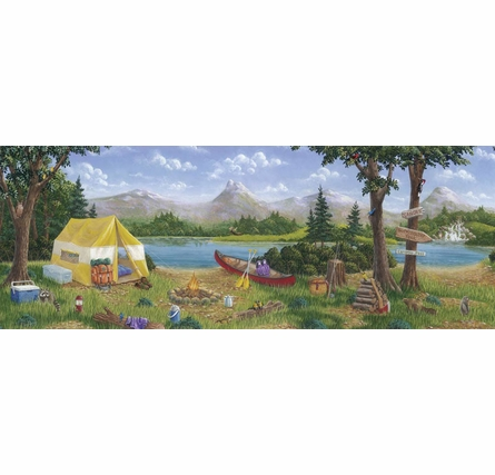Camping Personalized Wall Mural
