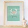 Cancer Zodiac Sign Art Print