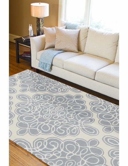 Candice Olson Blue Diamond Tile Rug