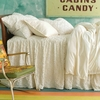 Candlewick Dove White Gathered Skirted Coverlet