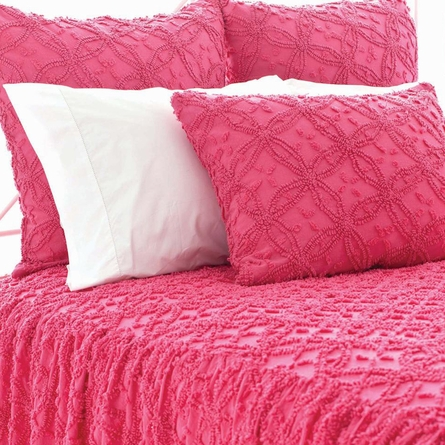 Candlewick Fuchsia Gathered Skirted Coverlet
