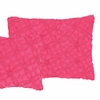 Candlewick Fuchsia Rectangular Pillow