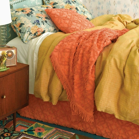 Candlewick Paprika Bed Skirt