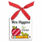Candy Apple Teacher's Personalized Ornament