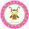 Candy Owl Personalized Melamine Plate