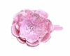 Candy Pink Rose Solid Headband with Pale Pink Rose Sequin Flower