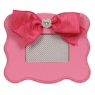 Candy Pink Scalloped Picture Frame