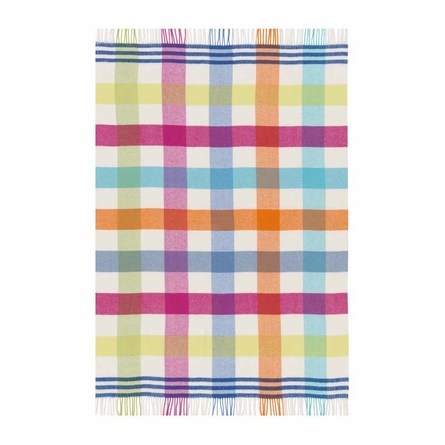 Canterbury Check Lemon Throw Blanket