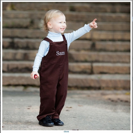 Cape Cod Corduroy Overalls in Brown