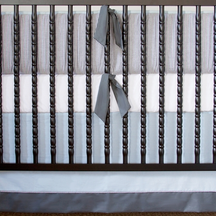 Cape Cod Seersucker 3-Piece Crib Bedding Set