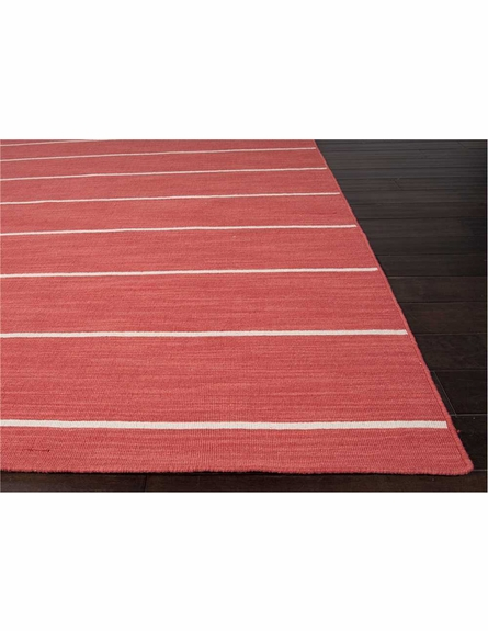 Cape Cod Striped Rug in Aurora Red