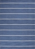 Cape Cod Striped Rug in Dark Denim