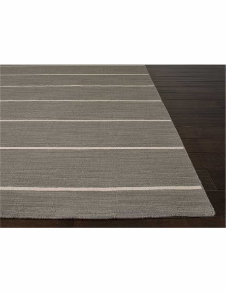 Cape Cod Striped Rug in Dark Gray
