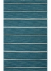 Cape Cod Striped Rug in Deep Lake