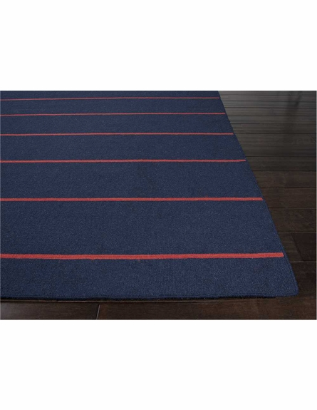 Cape Cod Striped Rug in Medieval Blue