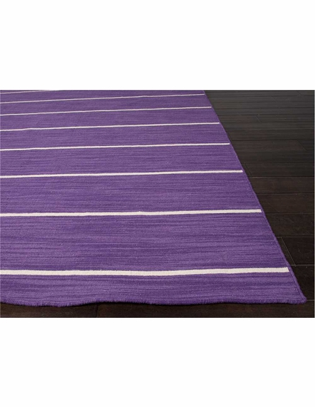 Cape Cod Striped Rug in Patrician Purple