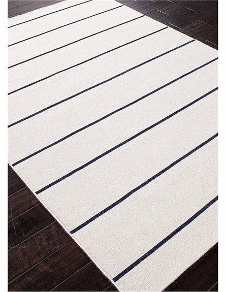 Cape Cod Striped Rug in Vanilla Ice