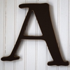 Capital Wall Letters in Chocolate Brown