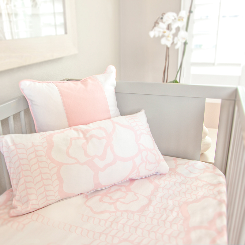 Capri Crib Sheet In Blush By Oilo Rosenberryrooms Com