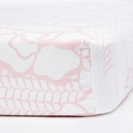 Capri Crib Sheet in Blush