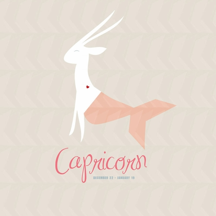 Capricorn Zodiac Sign Art Print